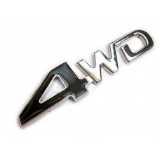 4WD Metal Badge in Black For Car or Truck 4x4
