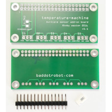 Temperature Machine add-on board with pins & resistor